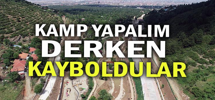 ORNAZ VADİSİNDE KAMP YAPMAK İSTERKEN MAHSUR KALDILAR