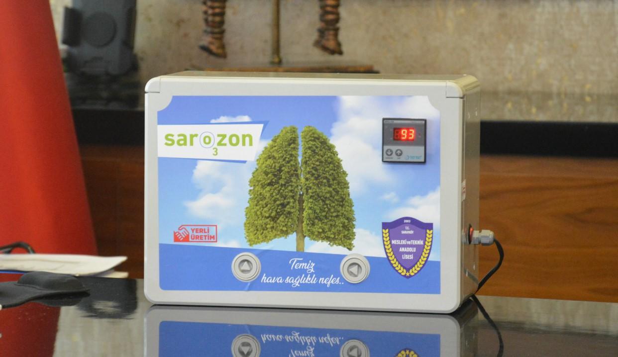 Sarayköy Meslek Lisesi öğretmenleri ozon makinesi üretti