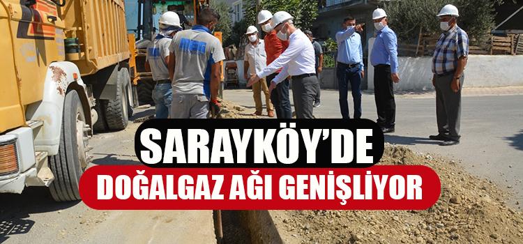Sarayköy'de doğal gaz ağı genişliyor