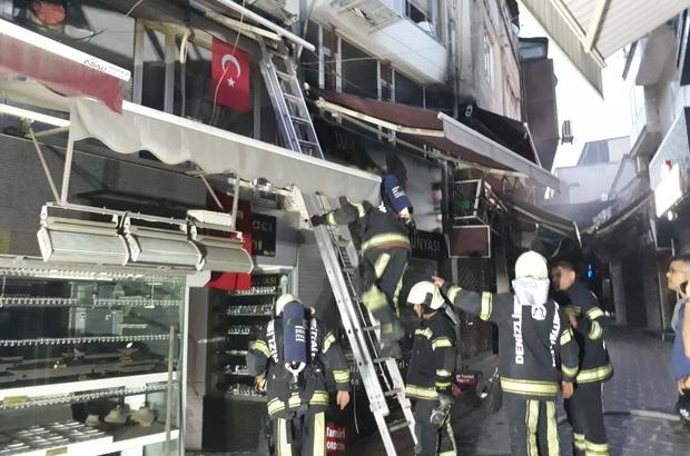 Babadağlılar İşhanı'ndaki yangın büyümeden söndürüldü