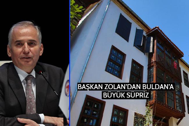 Başkan Zolan'dan Buldan'a Büyük Sürpriz