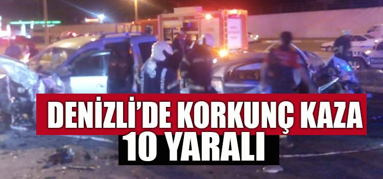 Denizli'de Korkunç Kaza: 10 Yaralı
