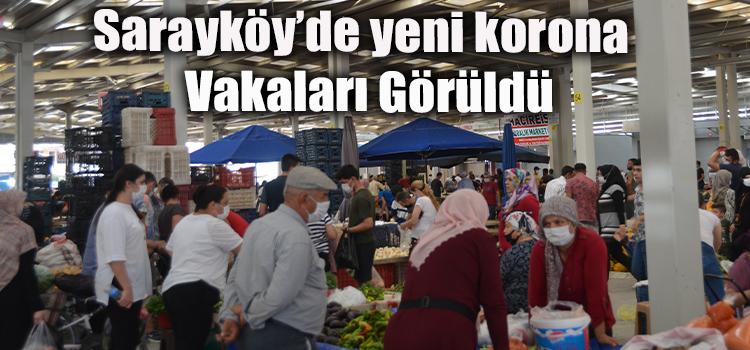 Korona virüs bu kez Sarayköy pazarında görüldü
