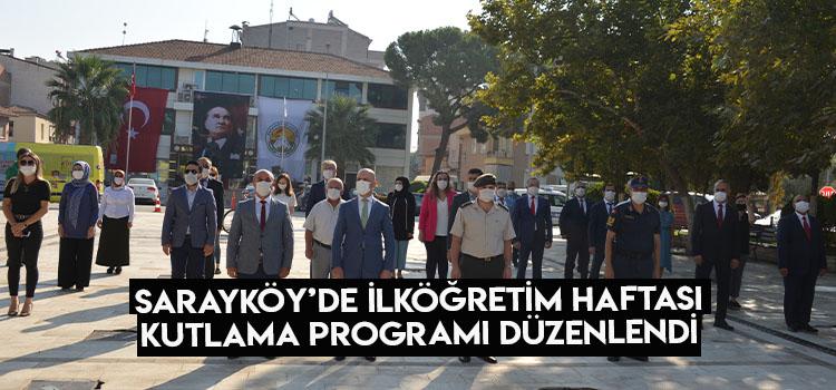 Sarayköy'de ilköğretim haftası kutlama programı düzenlendi