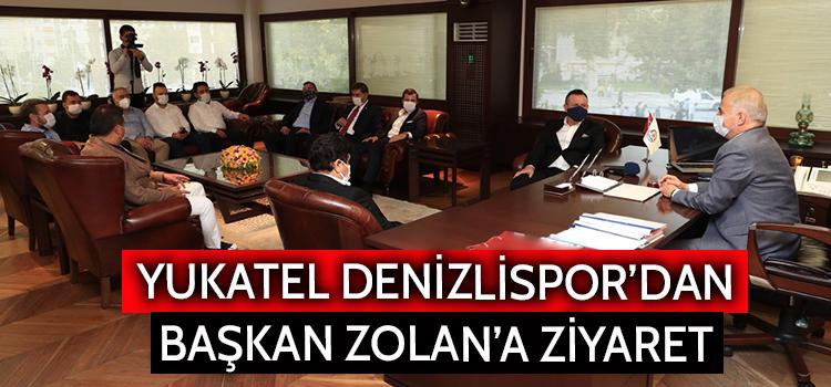 """Başkan Zolan: """"Denizli'nin en önemli markası Denizlispor'dur"""" Yukatel Denizlispor'dan Başkan Zolan'a ziyaret"""