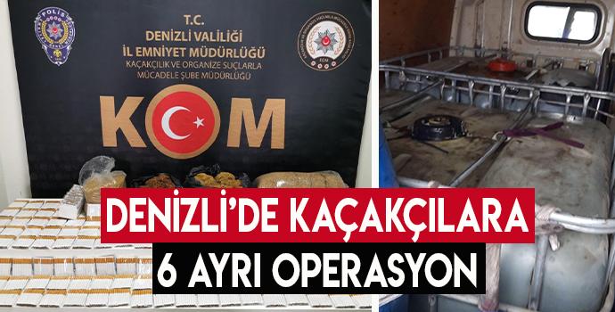 Denizli'de Kaçakçılara 6 Ayrı Operasyon