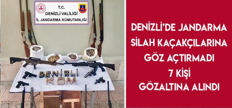Denizli'de Silah Kaçakçılarına Operasyon: 7 Gözaltı