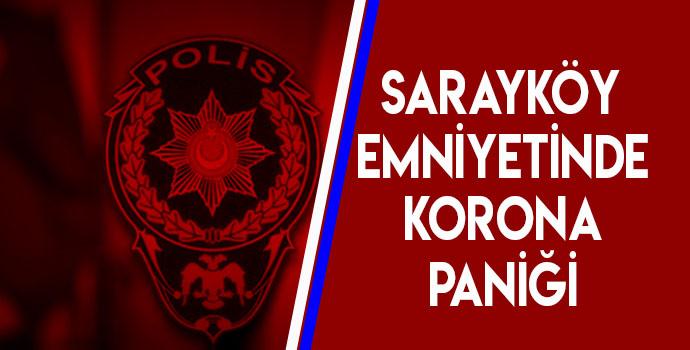SARAYKÖY EMNİYETİNDE KORONA VİRÜS 1'İ POLİS 3'Ü BEKÇİ