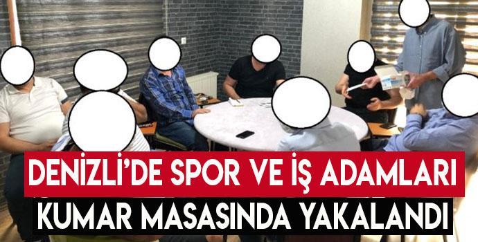 Denizli'de Spor Ve İş Adamları Kumar Masasında Yakalandı