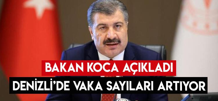 BAKAN KOCA AÇIKLADI DENİZLİ'DE VAKALAR ARTIYOR