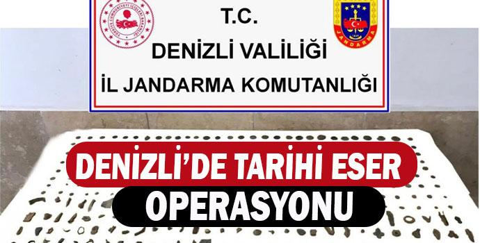 DENİZLİ'DE TARİHİ ESER OPERASYONU