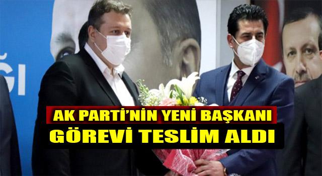 AK Parti İl Başkanlığına atanan Yücel Güngör bayrağı teslim aldı