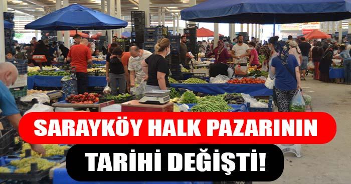Sarayköy Halk Pazarının Tarihi Değişti!