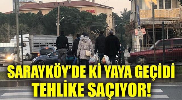 Sarayköy'de Ki Yaya Geçidi Tehlike Saçıyor!
