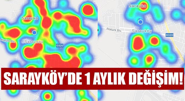 Sarayköy'de 1 Aylık Koronavirüs Değişimi!