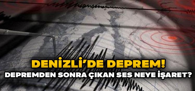 Depremden Sonra Çıkan Ses Panik Yarattı!