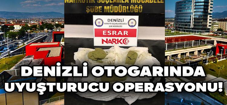 Denizli Otogarında Uyuşturucu Operasyonu!