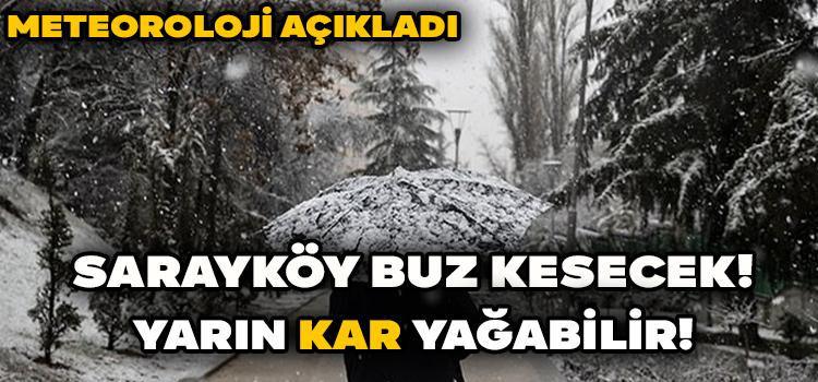 Sarayköy'de Beklenen Kar Yağışı Başladı!