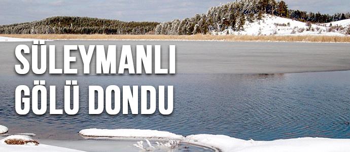 Süleymanlı Gölü Dondu