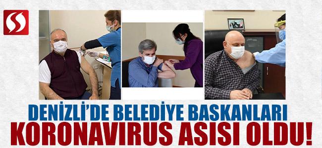 Denizli'de Belediye Başkanları Koronavirüs Aşısı Oldu!