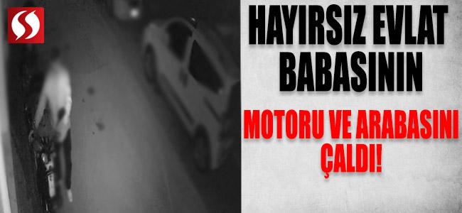Hayırsız Evlat Babasının Motoru ile Arabasını Çaldı!