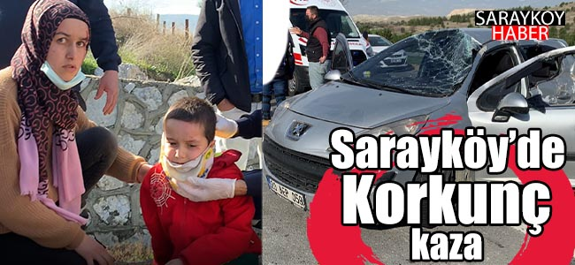 Sarayköy Denizli Anayolunda Korkunç Kaza!