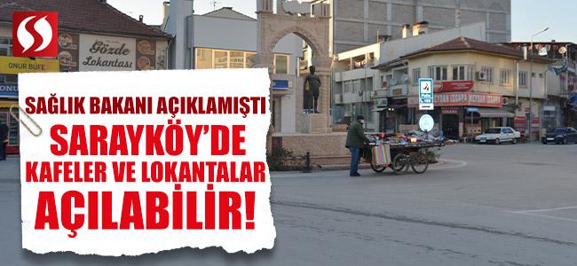 Sarayköy'de Kafeler ve Lokantalar Açılabilir!