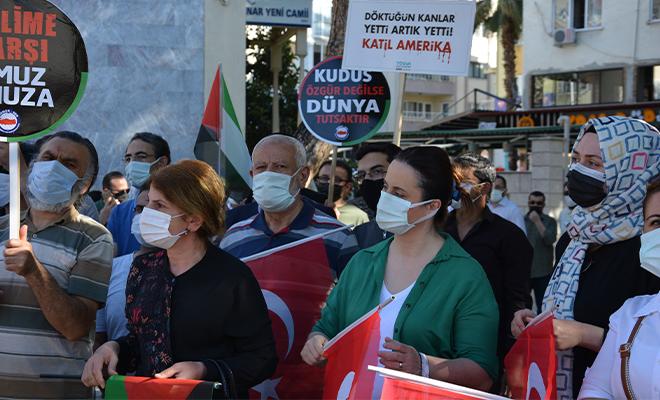 Denizli'de İsrail Zulmü protesto edildi!