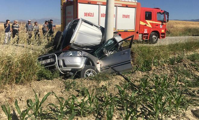 Sarayköy'de feci kaza! İki kişiye mezar oldu!