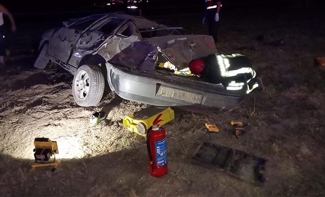 Denizli'de direksiyon hakimiyetini kaybeden sürücü kaza yaptı! Kazada 2 kişi yaralandı!