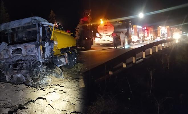 Acıpayam'da tanker kaza yaptı! Yaşanan patlamada 1 kişi hayatını kaybetti!