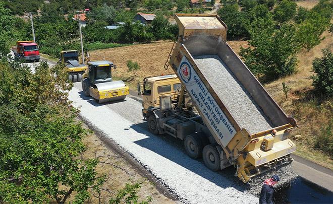 Büyükşehir, asfalt çalışmalarında hız kesmiyor