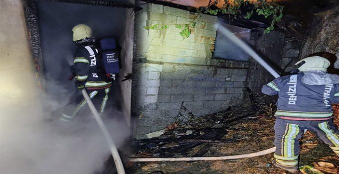 Denizli'de metruk binada yangın paniği!